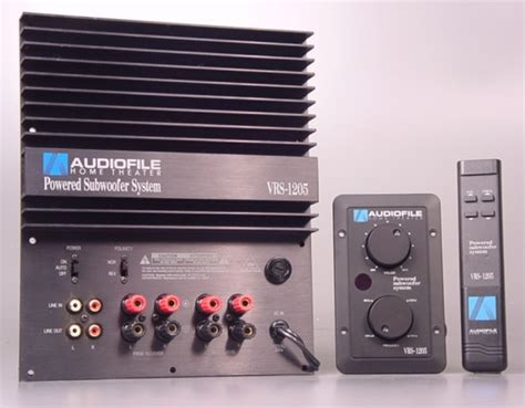 audiofile home theater vrs  powered subwoofer amp