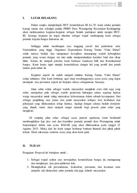 format surat pernyataan damai surat permohonan bantuan proposal jalan sehat dan bazar