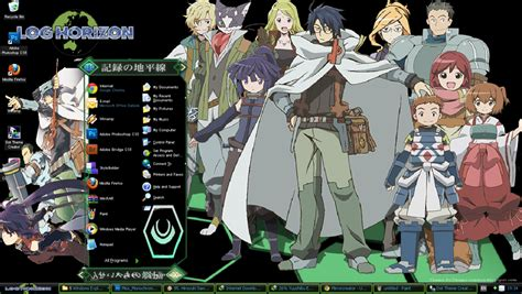 download theme windows 7 log horizon theme windows xp log horizon by themeanimewindows on