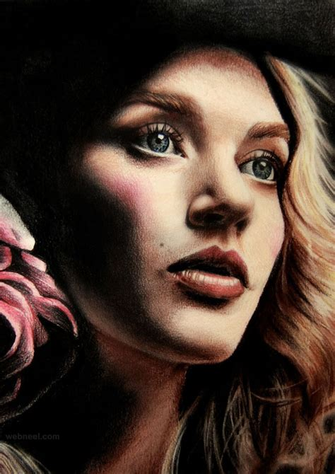 colored pencil portraits 25 beautiful color pencil drawings and drawing tips for