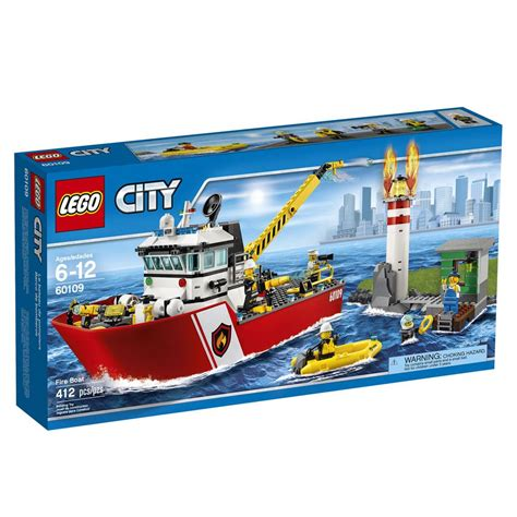lego city boat lego 174 city fire boat 60109 cool toy for kids building