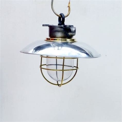 ships lantern with brass cage style ceiling