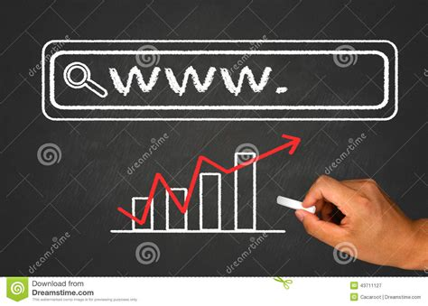 Web Address Lookup Web Address Search Bar Stock Image Image Of Communication