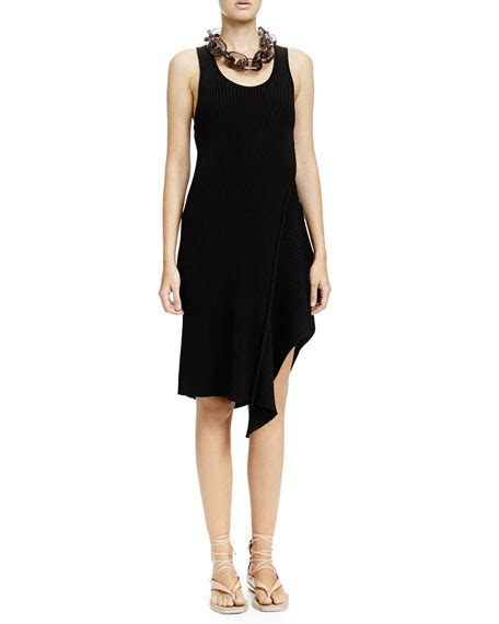 Asymmetric Tank Dress stella mccartney ribbed asymmetric tank dress black