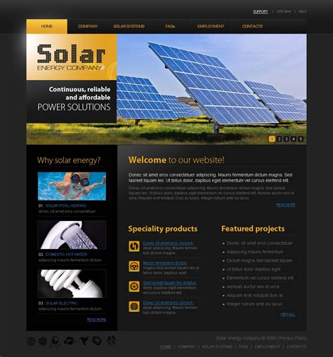 Solar Energy Website Template 25713 Solar Website Templates