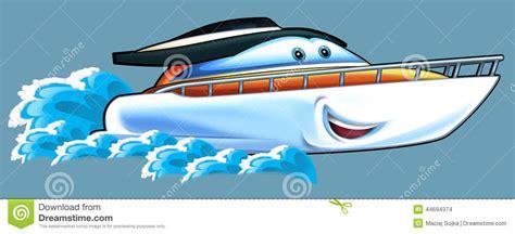 children s boat cartoon cartoon speed boat stock illustration illustration of