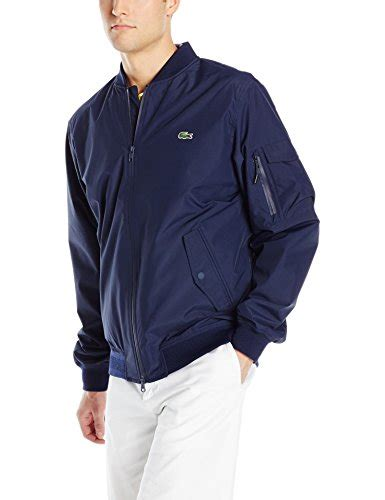 Bomber Jacket Hitam Cokelat Abu Navy lacoste s lightweight bomber jacket navy blue black 50 buy in uae