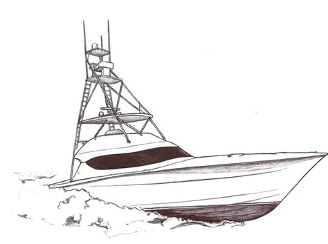fishing boat drawing sport fish boat ink drawing by drucanuck79 on deviantart