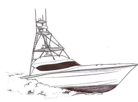 boat drawing fishing boat drawing