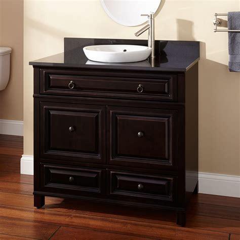 "36"" Orzoco Black Vanity for Undermount Sink   Bathroom"