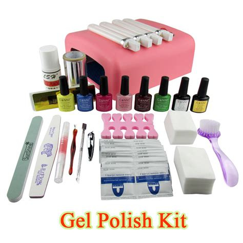 gel nail polish kit with uv light gel polish set soak off led uv gel kit uv 36w curing l