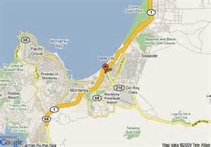 seaside california map map of inn express at monterey bay seaside