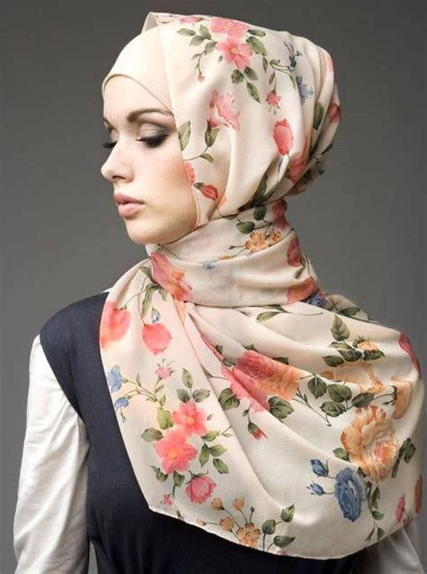 simple hijab pattern floral hijabs for spring and summer 2013 arabia weddings