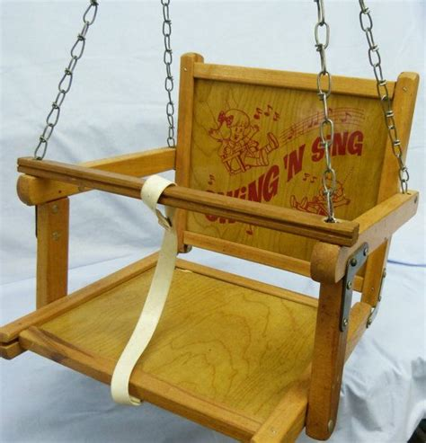 wood baby swing swing n sing vintage wooden baby infant toddler children