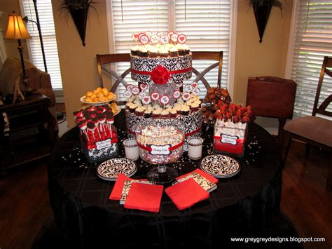 red black and white wedding reference for wedding decoration