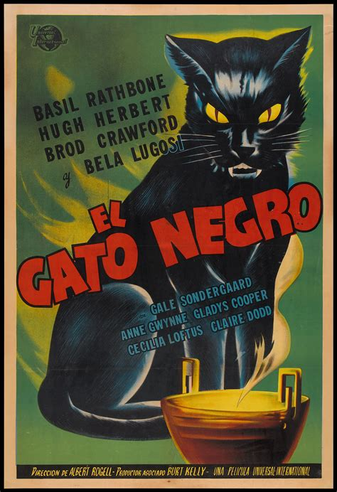 film mandarin black cat death by fright vintage horror movie posters