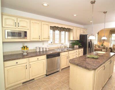 bisque kitchen appliances kitchens with bisque cabinets stainless appliances