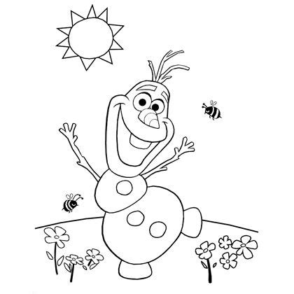printable disney olaf olaf s summer coloring page disney family