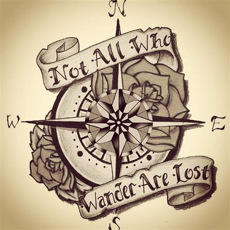 tattoo quotes to go with a compass compass tattoo with quote www pixshark com images
