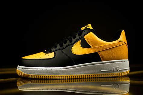 color air ones nike air 1 low black yellow sneakerfiles