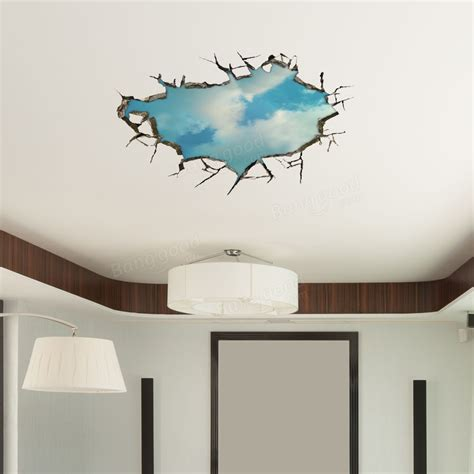 Stickers For Ceiling by 3d Sky Wall Decals Ceiling Wall Stickers 22 Inch