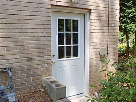 Installing Prehung Exterior Door with How To Install A Pre Hung Exterior Door How Tos Diy