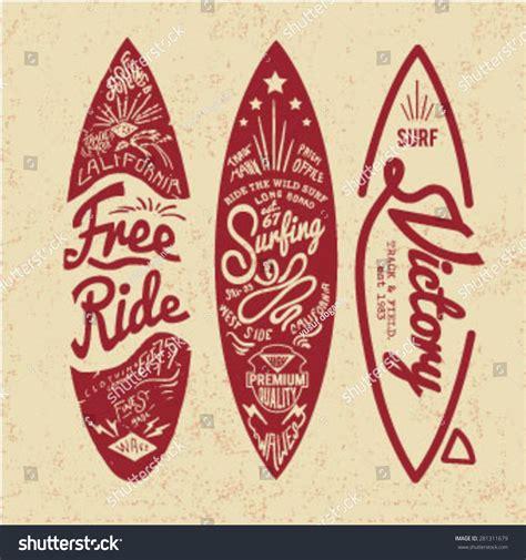 imagenes surf vintage vintage surf board with type stock vector 281311679