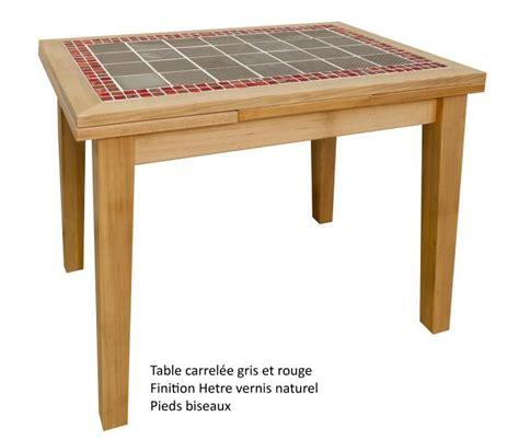 table carrel馥 cuisine table rectangulaire carrel 233 e avec 2 allonges made in