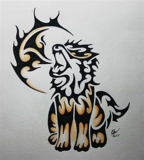 arcanine tattoo tribal arcanine commission by esmeekramer on deviantart
