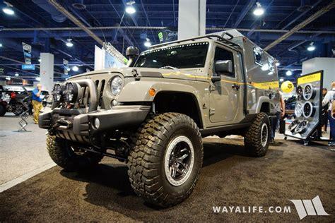 black aev jeep 2017 sema aev outpost ii jeep jk wrangler cer