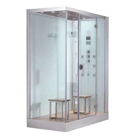 aston za205 59 in x 31 in x 85 in drop in steam shower