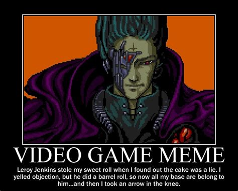 Videogame Meme - gaming the hyperbolic gamer