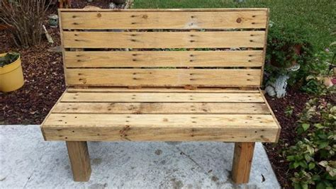 how to make a bench from pallets diy pallet rustic outdoor bench pallet furniture diy