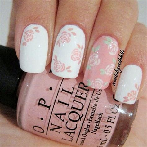 Pink List White 40 amazing bridal wedding nail for your special day