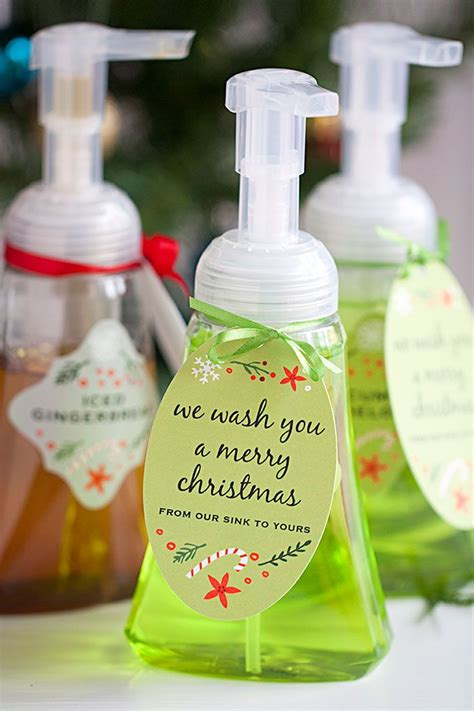 diy foaming hand soap neighbor christmas gifts teacher christmas gifts diy christmas gifts