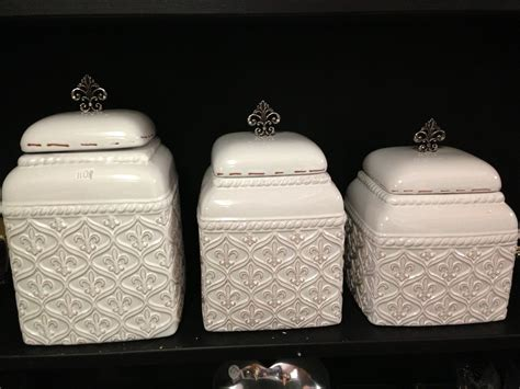 Fleur De Lis Kitchen Canisters For The Home