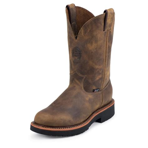 mens gaucho boots justin s rugged gaucho j max 174 steel toe work boots