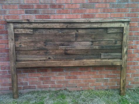 king size pallet headboard rustic king size recycled pallet headboard by