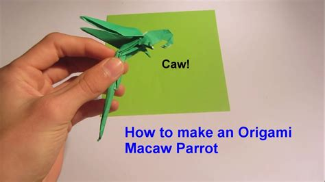 How To Make A Paper Parrot - how to make an origami macaw parrot