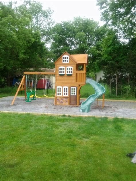 Toys R Us Backyard Playsets by Big Backyard Stonefield Lodge Playset From Toys R Us Installed In Hillsborough Nj Swingset