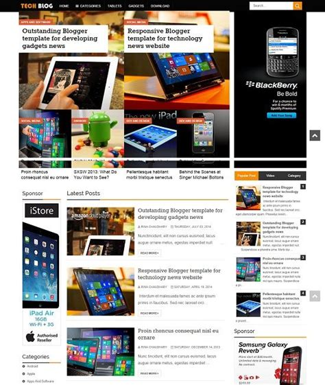 Blogspot Themes Tech | techblog tech blogger template 187 abtemplates com