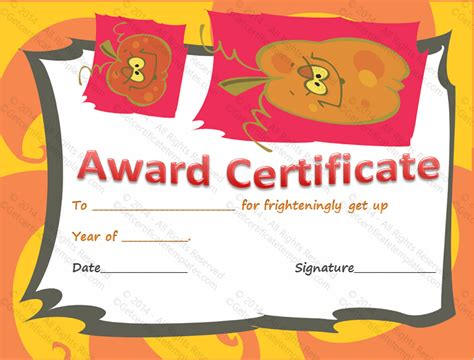 best photos of halloween certificate templates halloween