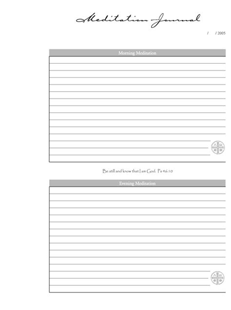 printable journal page template 9 best images of meditation journal template printable
