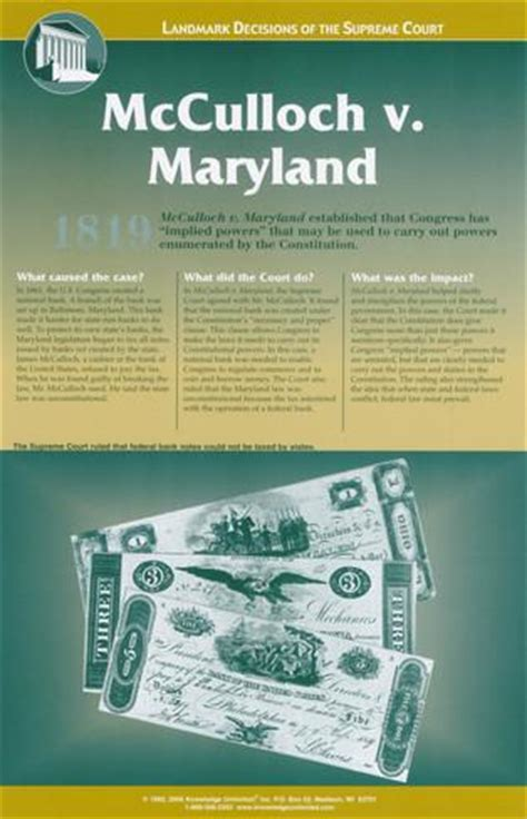 Search Court Maryland Landmark Decisions Of The Supreme Court Mcculloch V Maryland Prints At Allposters