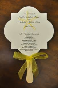 fan program wedding sle wedding programs nicholas wedding program fans