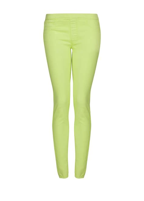 color jeggings mango color jeggings in green lyst