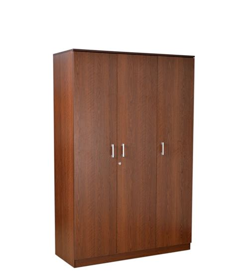 3 door armoire hometown 3 door wardrobe in brown buy online at best