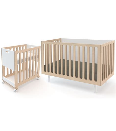 oeuf fawn 2 in 1 crib system white birch