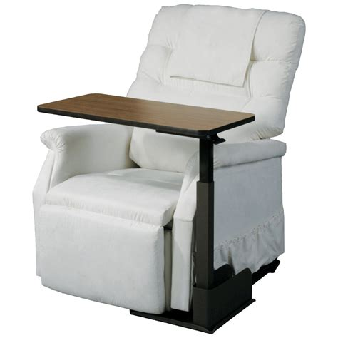 recliner side table seat life chair table overbed tray tables at tv tray