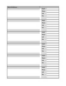 address directory template 4 best images of free printable phone directory template